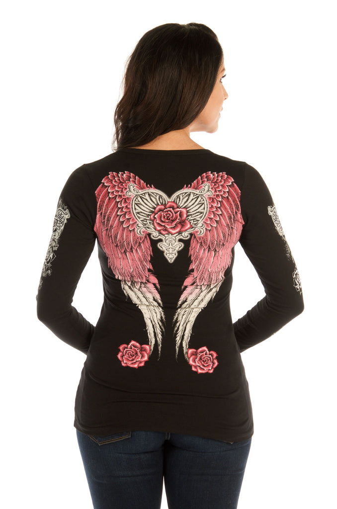 Liberty Wear Collection Tops: Hearts, Roses & Wings