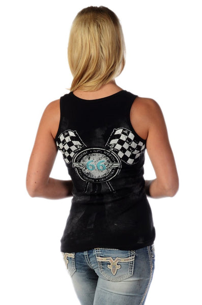 Liberty Wear Collection T-Shirts: Tank Bikin' Route 66