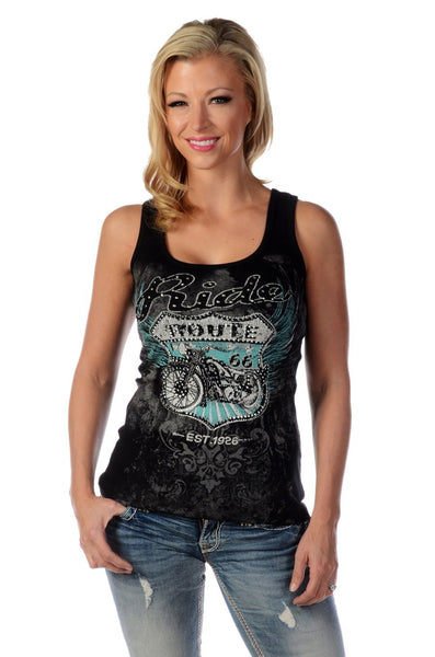 Liberty Wear Collection Tops: Tank Bikin' Route 66