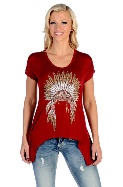 Liberty Wear Indian Chief Top Front #117966