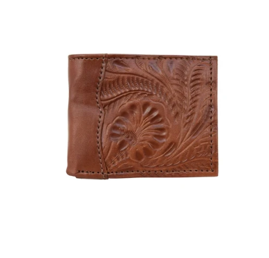 American West Men's Collection Bi-Fold Wallet Distressed Charcoal