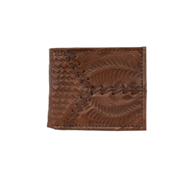 American West Men's Collection Bi-Fold Wallet Light Brown