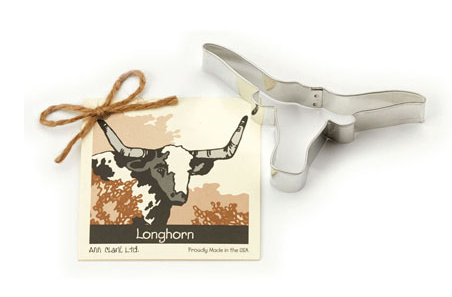 Ann Clark Cookie Cutter Longhorn with Recipe Card
