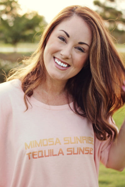 Original Cowgirl Clothing Ladies' T-Shirt Mimosa Sunrise Tequila Sunset