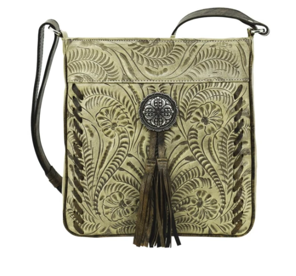 American West Lariats & Lace Messenger Bag Sand