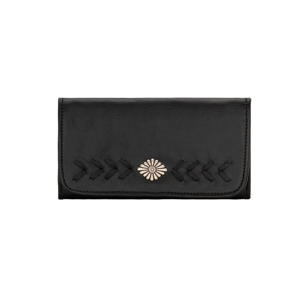 American West Mohave Collection Tri-Fold Wallet Black Front