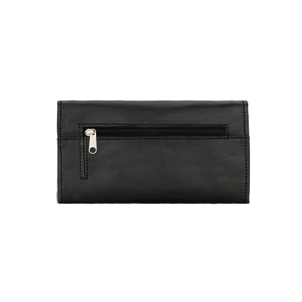 American West Mohave Collection Tri-Fold Wallet Black Back