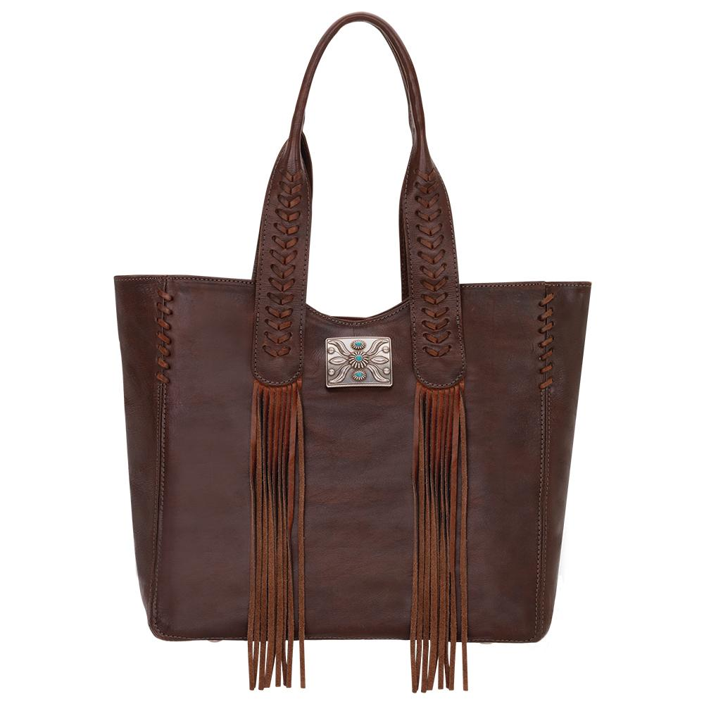 American West Mohave Canyon Small Tote Dark Brown