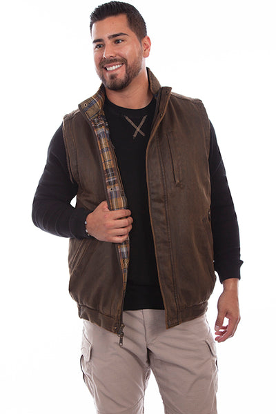 Scully Men's Outdoor Moleskin Vest Front