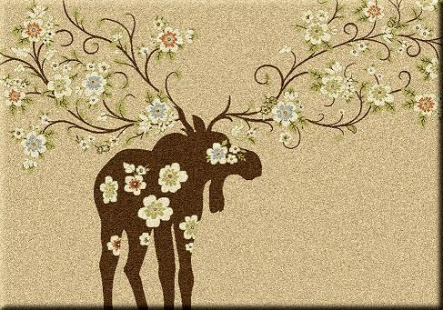 American Dakota Moose Blossom Natural Rug