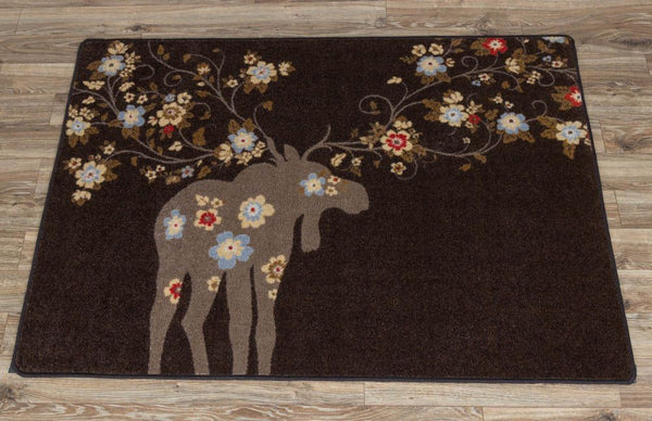 American Dakota Moose Blossom Rug Chocolate