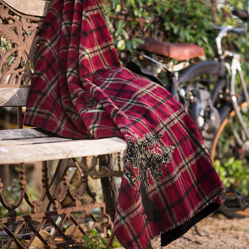 Denali Blanket Moose Plaid