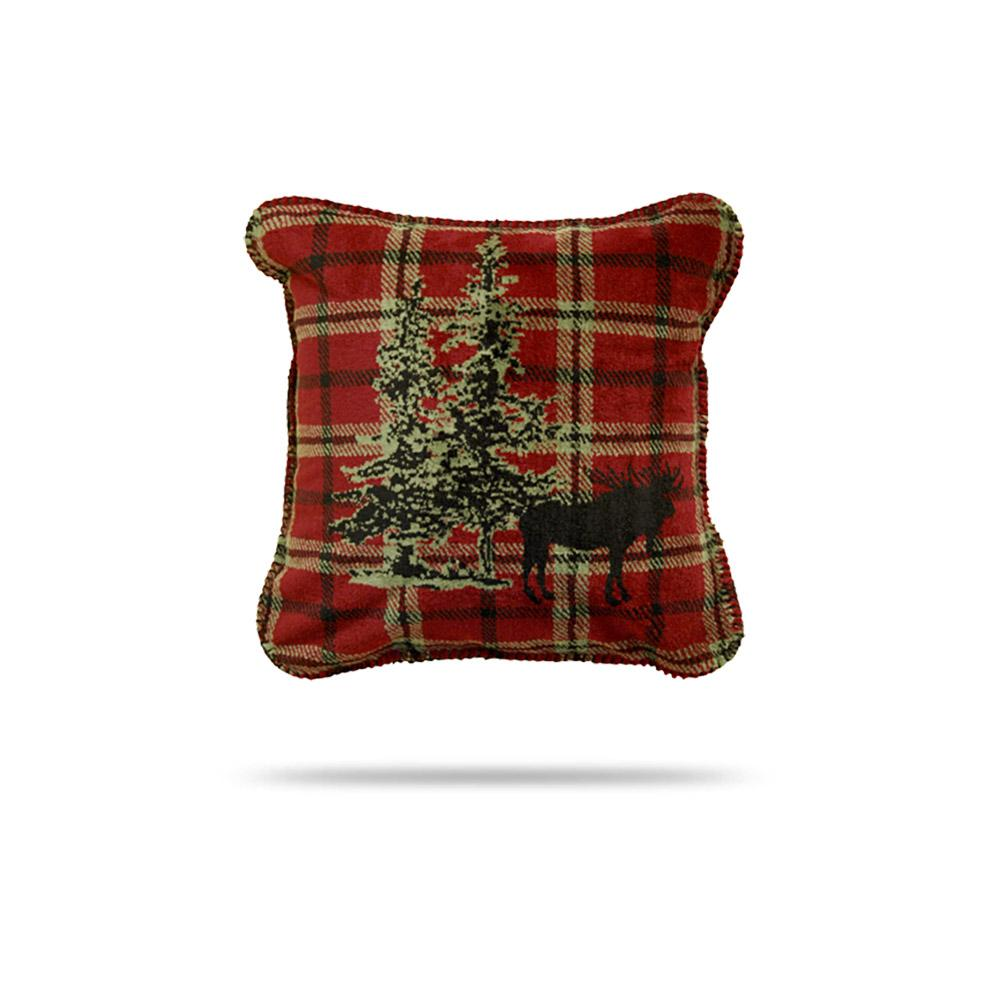 Denali Pillow Moose Plaid