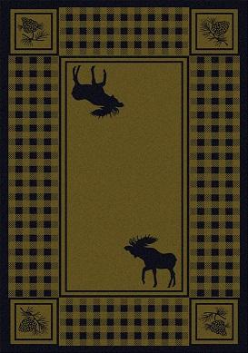 American Dakota Moose Refuge Area Rug Green