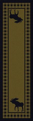 American Dakota Moose Refuge Area Rug Green Runner