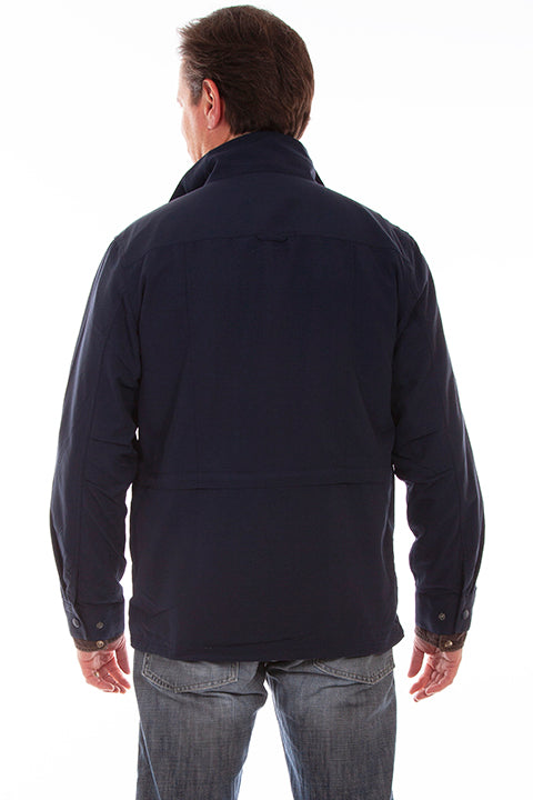 Men's Fartherst Point Multi Pocket Jacket Midnight Sky Back #5261