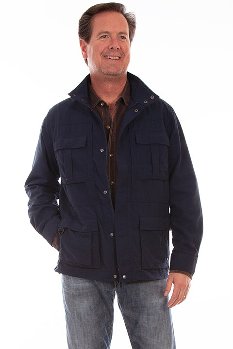 Men's Fartherst Point Multi Pocket Jacket Midnight Sky  Front #5261
