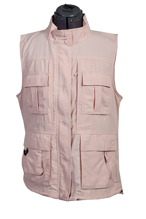 Farthest Point Collection Multi Pocket Ladies' Vest Rose Front #6262