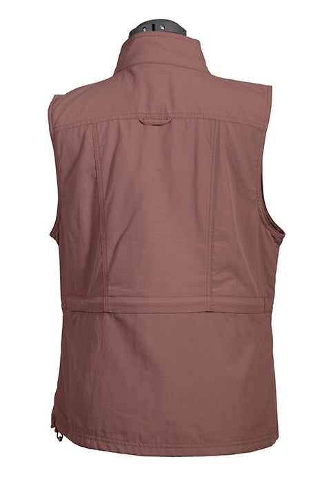 Farthest Point Collection Multi Pocket Ladies' Vest Toffee Back #6262