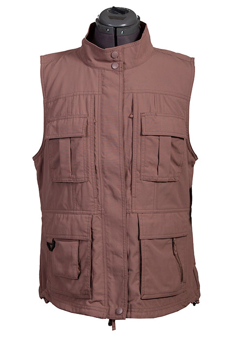 Farthest Point Collection Multi Pocket Ladies' Vest Toffee Front #6262