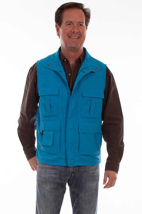 Men's Farthest Point Multi Pocket Vest Coastal  #5262
