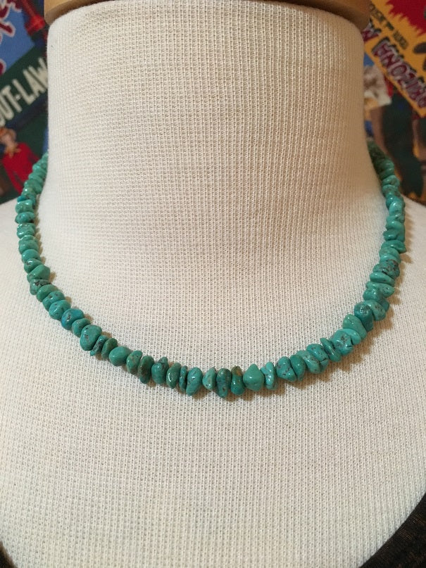 Two Grey Hills Native American Handcrafted Turquoise Set of Two Strands - One Strand