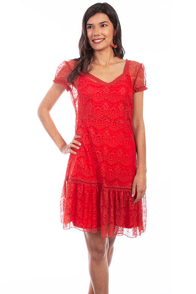 Scully Honey Creek HC581 Dress Lace Cap Sleeve Sunset
