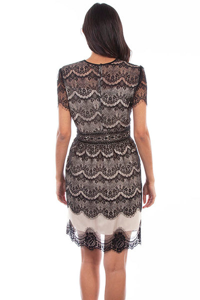 Scully Honey Creek HC612 Antiqued Scalloped Lace Dress Front