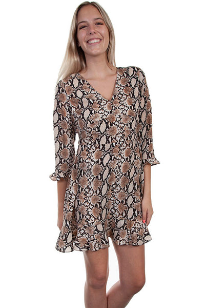 Scully Ladies' HC622 Honey Creek Python Print Dress Front