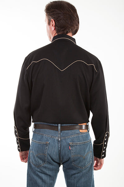 Scully Men's Vintage Inspired Pullover Bib Guitar Front #719909