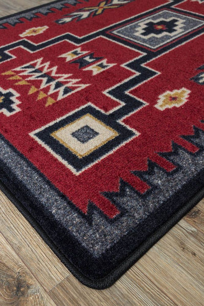 Voices Collection: Old Crow Red Area Rugs