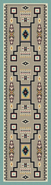 American Dakota Old Crow Turquoise Rug