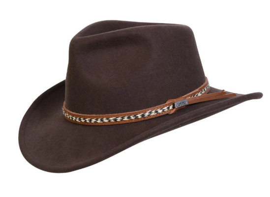 Conner Handmade Hats Outback Fences Brown #121171B