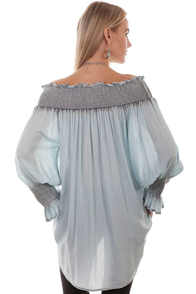 Scully Honey Creek Smocked Neckline with Flowing Sleeves