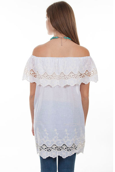 Ladies' Scully Honey Creek Lace Peasant Top Front
