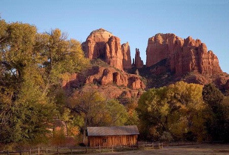 In The Lens Photography: Cathedral Rock and Mill, Sedona Color
