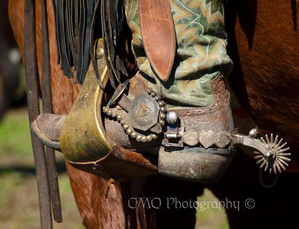"Fine Art Print by CMQ Photography: ""Boots and Spurs"""