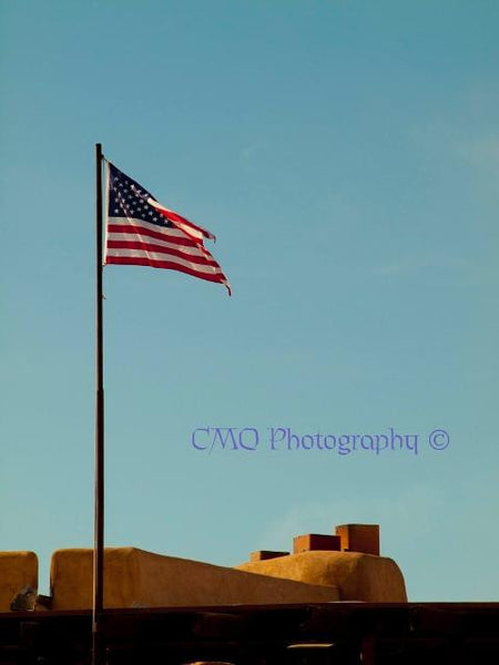 "Fine Art Print by CMQ Photography: ""Old Town Flag"""