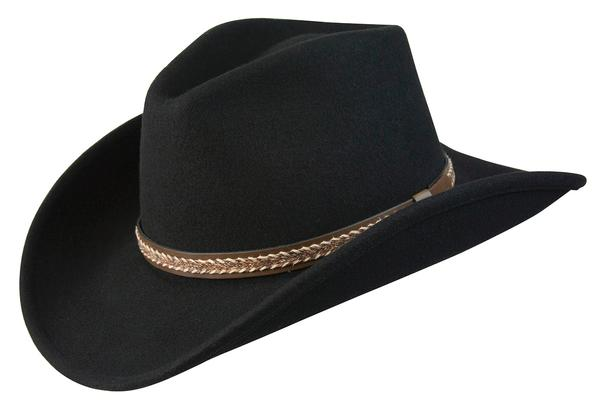 Conner Handmade Hats Stormy Canyon Black #1201002A