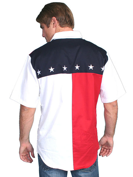 Scully Leather Co. Men's Patriotic Shirt Short Sleeves Front