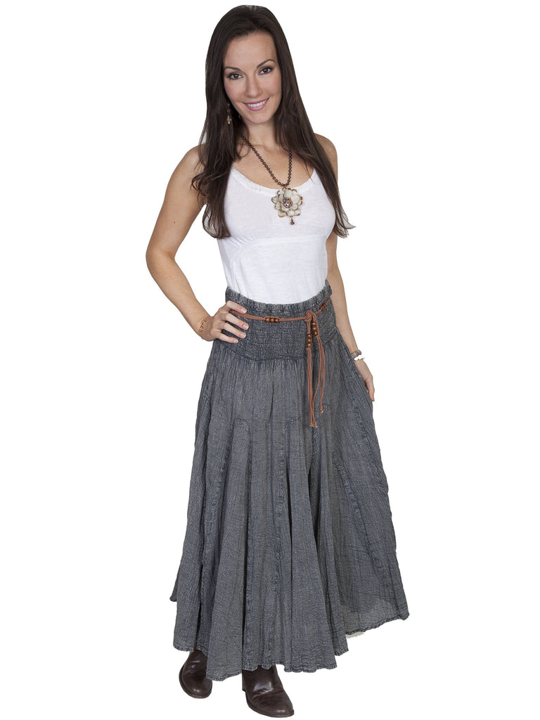 Ladies' Scully Cantina Collection Charcoal Cotton Skirt