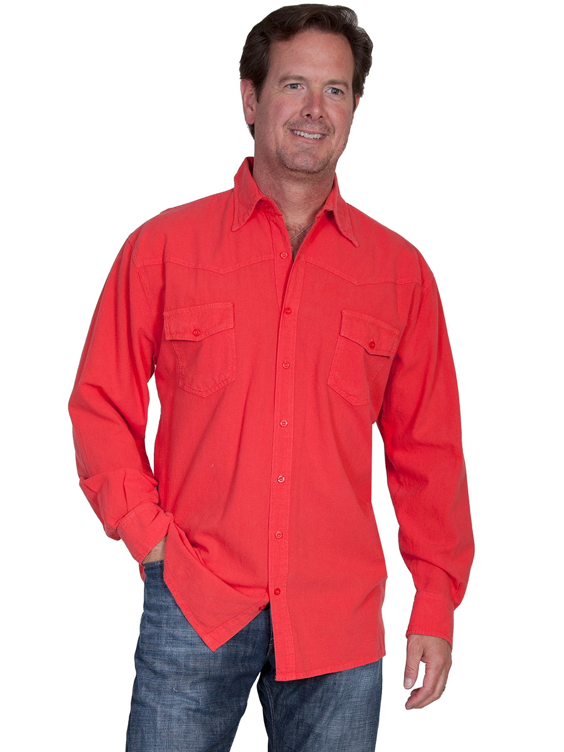 5670424f25 Cantina Collection for Men Cayenne Western Yoke Button Front Shirt ...