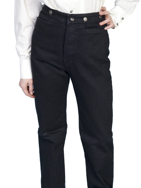 Scully Ladies Old West Collection Wahmaker Canvas Pants Black