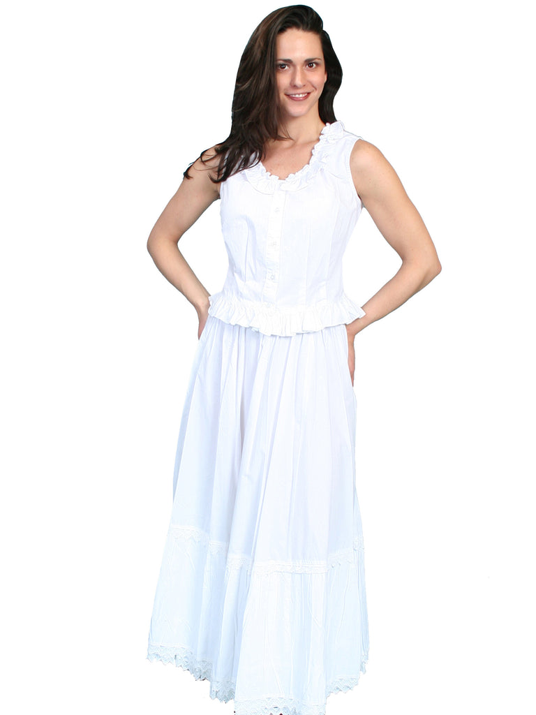 Old West Collection Petticoat Rangewear Ladies White Front