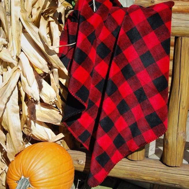 Denali Red Black Plaid Blanket