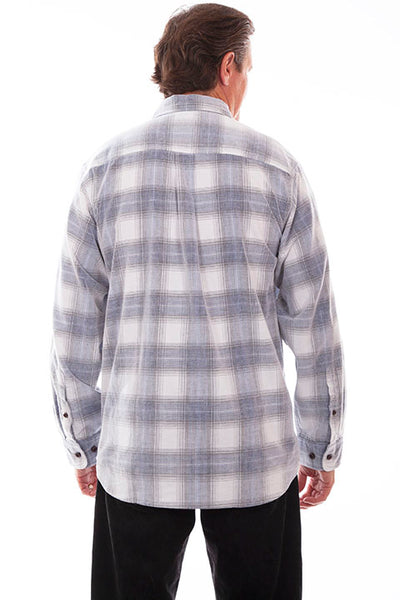 Farthest Point Collecton Corduroy Plaid Blue White Front