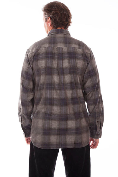 Farthest Point Collecton Corduroy Plaid Navy Charcoal Front
