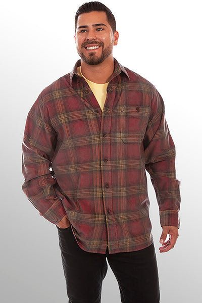 Farthest Point Collection Corduroy Plaid Red Yellow Front