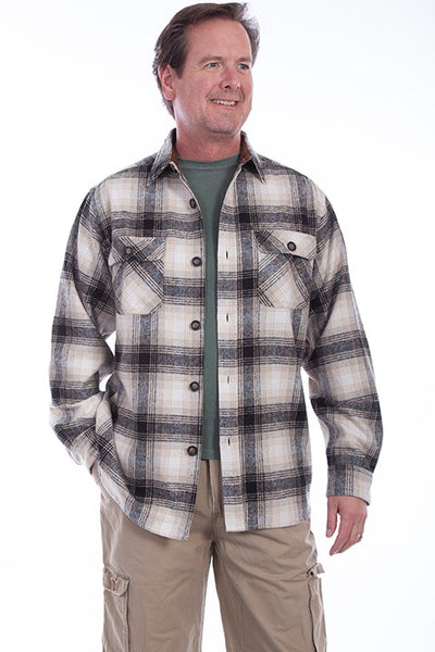 Farthest Point Collection Corduroy  Black White Plaid Front