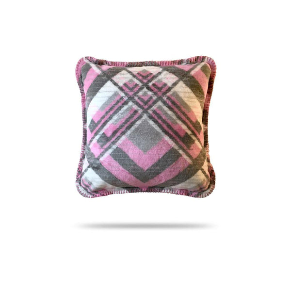 Denali Blanket Pink Gray Plaid 60x72